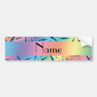 Personalized name rainbow kayaks bumper sticker