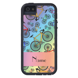 Personalized name rainbow road bikes case for iPhone 5