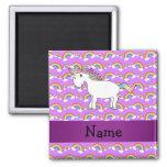 Personalized name rainbow unicorn purple rainbows