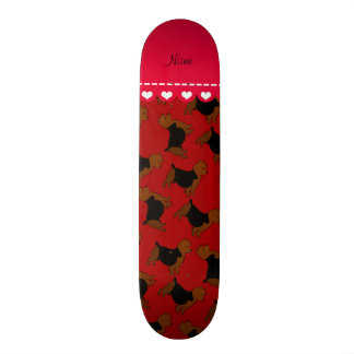 Personalized name red australian terrier dogs custom skate board