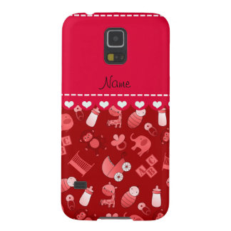 Personalized name red baby animals galaxy s5 cases