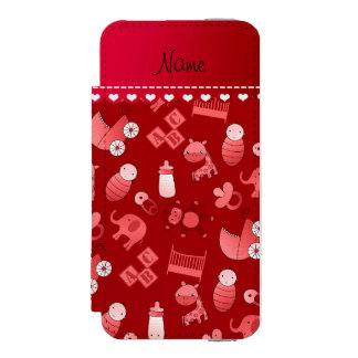 Personalized name red baby animals incipio watson™ iPhone 5 wallet case