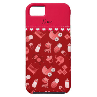 Personalized name red baby animals iPhone 5 cases