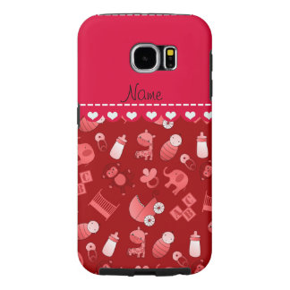 Personalized name red baby animals samsung galaxy s6 cases