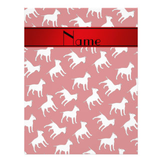 Personalized name red bull terrier dogs full color flyer