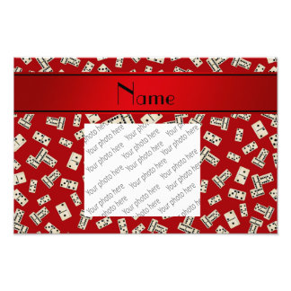 Personalized name red dominos art photo