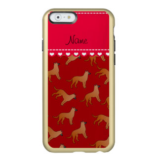 Personalized name red malinois dogs incipio feather® shine iPhone 6 case