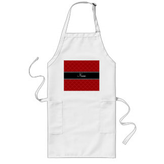 Personalized name Red moroccan Aprons