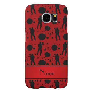 Personalized name red paintball pattern samsung galaxy s6 case