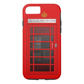 Personalized Name Red Telephone Box iPhone 7 case