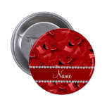 Personalized name red women's shoes pattern 2 inch round button