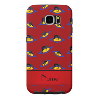 Personalized name red wrestlers on mat samsung galaxy s6 cases