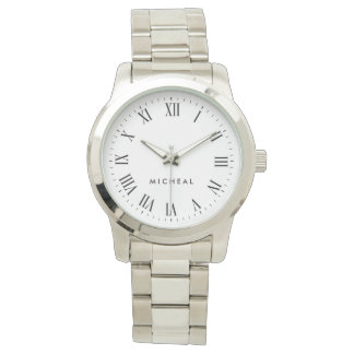 Personalized Name Roman Numerals Watches