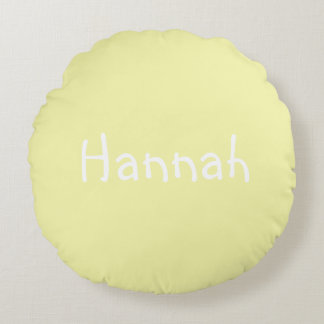 Personalized Name Round Pillow