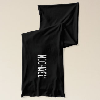 Personalized name scarves for guys   Grunge look