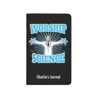 Personalized Name Science Worship Geek or Atheist Journals