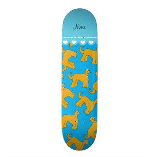 Personalized name sky blue afghan hound dogs skate decks
