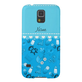 Personalized name sky blue baby animals galaxy s5 covers