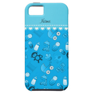 Personalized name sky blue baby animals iPhone 5 cover
