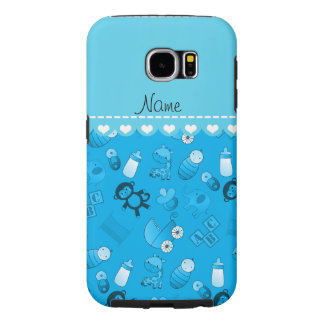 Personalized name sky blue baby animals samsung galaxy s6 cases