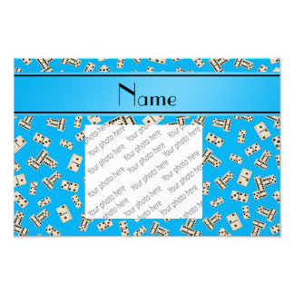 Personalized name sky blue dominos photo