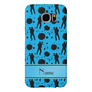 Personalized name sky blue paintball pattern samsung galaxy s6 cases