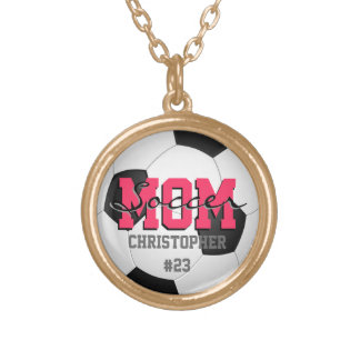 Personalized Name Soccer Mom Pendant Necklace