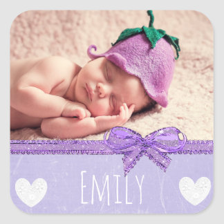 Personalized Name  Sticker with your baby's photo