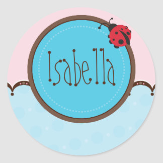 PERSONALIZED NAME STICKERS ladybird 3