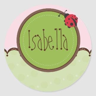 PERSONALIZED NAME STICKERS ladybird 4