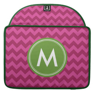 Personalized Name Stylish Purple Chevron Monogram Sleeves For MacBook Pro