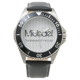 Personalized Name The Blessed of the Lord Wrist Watch