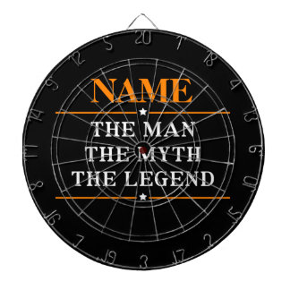 Personalized Name The Man The Myth The Legend Dartboards