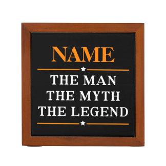 Personalized Name The Man The Myth The Legend Desk Organizer