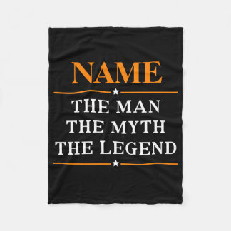 Personalized Name The Man The Myth The Legend Fleece Blanket