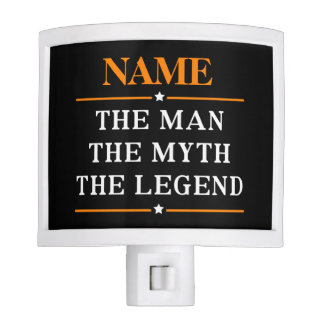 Personalized Name The Man The Myth The Legend Night Lites