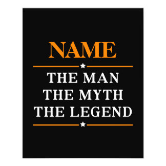 Personalized Name The Man The Myth The Legend Personalized Flyer
