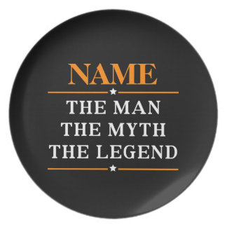 Personalized Name The Man The Myth The Legend Plate