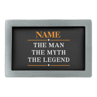 Personalized Name The Man The Myth The Legend Rectangular Belt Buckle