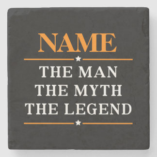 Personalized Name The Man The Myth The Legend Stone Coaster