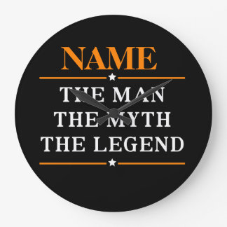 Personalized Name The Man The Myth The Legend Wallclocks