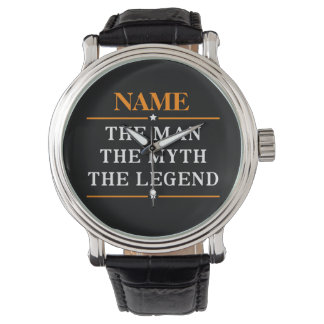 Personalized Name The Man The Myth The Legend Wrist Watches