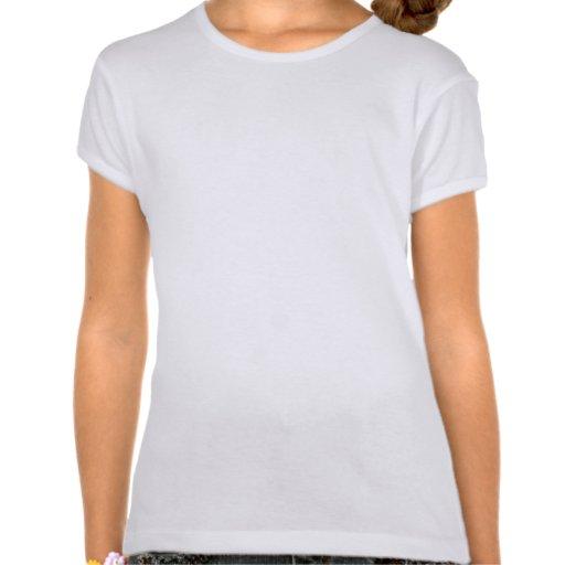 Personalized name Turquoise damask T-shirt