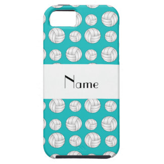 Personalized name turquoise volleyball balls iPhone 5 case
