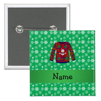 Personalized name ugly christmas sweater snowflake pin
