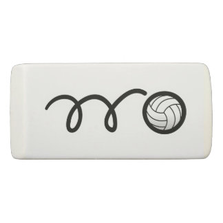Personalized name volleyball ball rubber eraser