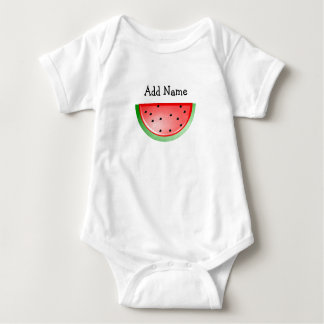 Personalized Name Watermelon Baby Tshirt
