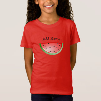 Personalized Name Watermelon Girl's Shirt