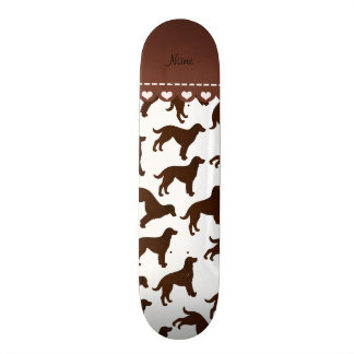 Personalized name white american water spaniels skateboards