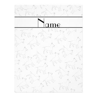 Personalized name white bull terrier dogs custom flyer